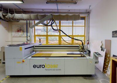 LDF MENDELU – Pavilon dřevařské technologie, laser